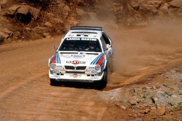 Miki Biasion (ITA), Lancia Delta S4, finished second. World Rally Championship, Rd6, Acropolis Rally, Greece, 2-4 June 1986.
