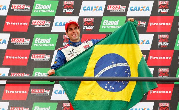 13-14 March, 2010, Sao Paulo, BrazilVitor Meira on the podium©2010, Michael L. Levitt, USALAT Photographic