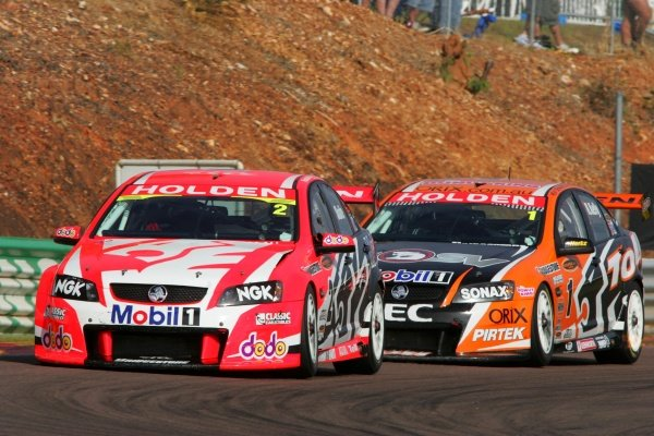 Mark Skaife, (aust) HRT Commodore finished 3rd outright for the round and joins the long list of pole winners not to win the round at DarwinSky City Triple CrownRd 6 V8 SupercarsHidden ValleyDarwinAust