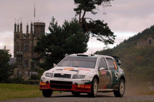 Colin McRae (GBR), Skoda Fabia WRC, on Stage 15, Margam Park. FIA World Rally Championship, Rd12, Wales Rally GB, Cardiff, Wales, Day Three, Sunday 18 September 2005. DIGITAL IMAGE