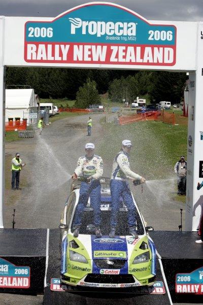 Rally New Zealand, 16-19th November 2006Marcus Gronholm, Ford, podiumWorld Copyright: McKlein/LAT Photographic
