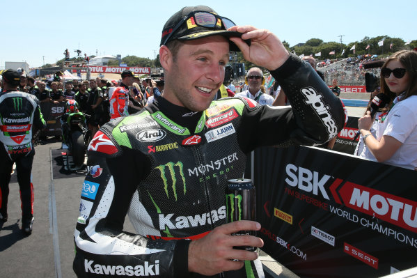 2017 Superbike World Championship - Round 8 Laguna Seca, USA. Sunday 9 July 2017 Winner Jonathan Rea, Kawasaki Racing World Copyright: Gold and Goose/LAT Images ref: Digital Image 683475