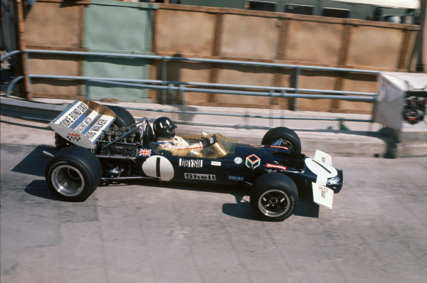 Monte Carlo, Monaco. .7-10 May 1970.  Graham Hill, Walker Racing Lotus 49C Ford, 5th position.  Ref: 70 MON 11. World Copyright: LAT Photographic