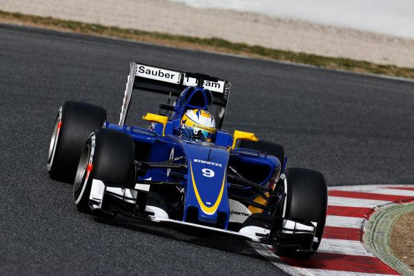 Circuit de Catalunya, Barcelona, Spain Monday 22 February 2016. Marcus Ericsson, Sauber C35 Ferrari. World Copyright: Alastair Staley/LAT Photographic ref: Digital Image _R6T6930