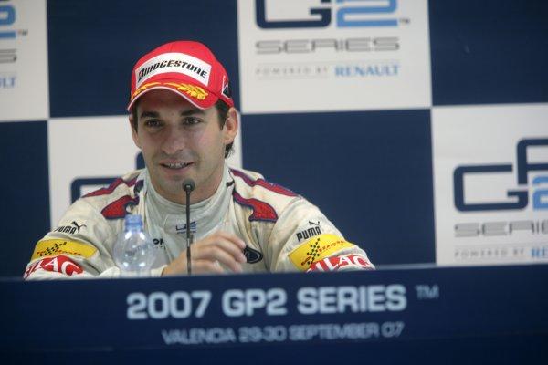 2007 GP2 Series. Round 11.Valencia, Spain. 30th September.Sunday Race. 2007 GP2 Series Champion Timo Glock (GER, iSport International). Portrait.World Copyright: Alastair Staley/GP2 Series Media Service.ref: Digital Image ZP9O0523