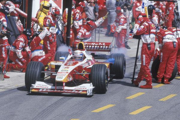 1999 San Marino Grand Prix. Imola, Italy. 30/4-2/5 1999. Alessandro Zanardi (Williams FW21 Supertec). Ref-99 SM 70. World Copyright - Steven Tee/LAT Photographic