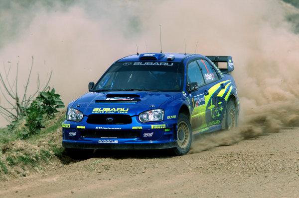 2004 FIA World Rally Champs. Round three, Corona Rally Mexico.11th-14th March 2004.Petter Solberg, Subaru, action.World Copyright: McKlein/LAT