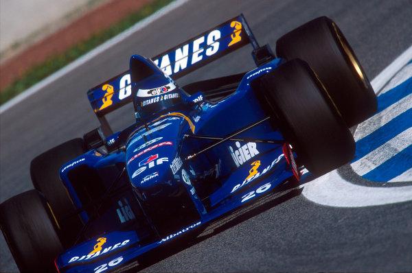 Barcelona, Spain.12-14 May 1995.Olivier Panis (Ligier JS41 Mugen-Honda) 6th position.Ref-95 ESP 11.World Copyright - LAT Photographic