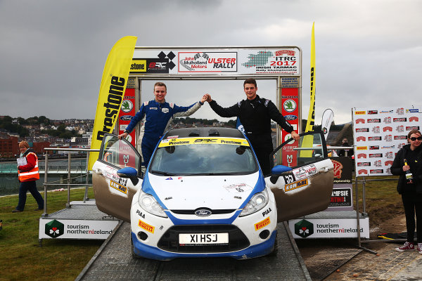 2017 British Rally Championship, Ulster Rally, Londonderry. 18th - 19th August 2017. Josh Cornwell / Tom Woodburn Ford Fiesta R2 World Copyright: JEP/LAT Images.