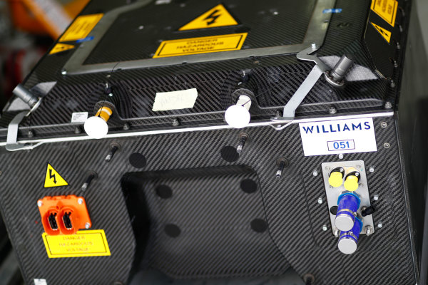 2017/2018 FIA Formula E Championship. Official Test - Valencia, Spain Wednesday 4 October 2017. Williams battery. Photo: Sam Bloxham/LAT/Formula E ref: Digital Image _J6I9720