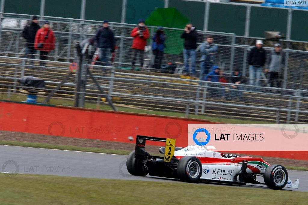 2013 FIA F3 European Championship, Silverstone, Northamptonshire. 12th - 14th April 2013. Alex Lynn (GBR) Prema Powerteam Dallara Mercedes. World Copyright: Ebrey / LAT Photographic.