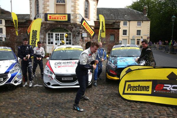 2017 Prestone MSA British Rally Championship,  Pirelli International Rally, Carlisle. 29th - 30th April 2017. Junior Podium. World Copyright: JEP / LAT Images.