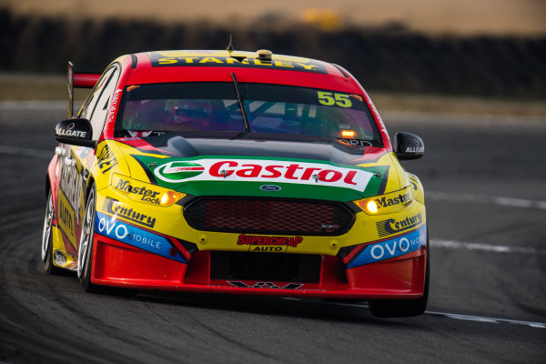 2017 Supercars Championship Round 2.  Tasmania SuperSprint, Simmons Plains Raceway, Tasmania, Australia. Friday April 7th to Sunday April 9th 2017. Chaz Mostert drives the #55 Supercheap Auto Racing Ford Falcon FGX. World Copyright: Daniel Kalisz/LAT Images Ref: Digital Image 070417_VASCR2_DKIMG_1613.JPG