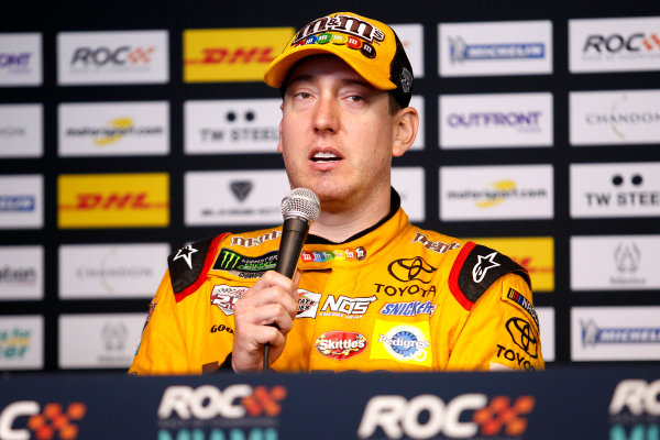 2017 Race of Champions Miami, Florida, USA Sunday 22 January 2017 Press Conference with Kyle Busch World Copyright: Alexander Trienitz/LAT Photographic ref: Digital Image 2017-RoC-MIA-AT2-3277
