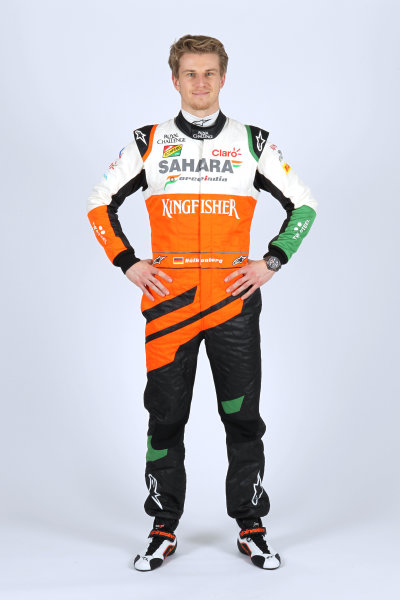 Force India VJM07 Online Launch Images 23 January 2014 Nico Hulkenberg, Force India Photo: Force India (Copyright Free FOR EDITORIAL USE ONLY) ref: Digital Image jm1423ja14