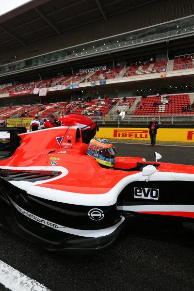 2014 GP3 Series Round 1 - Race 2. Circuit de Catalunya, Barcelona, Spain. Sunday 11 May 2014. Dean Stoneman (GBR, Marussia Manor Racing)  Photo: Malcolm Griffiths/GP3 Series Media Service. ref: Digital Image A50A3319