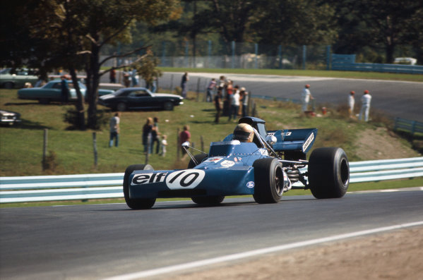 1971 United States Grand Prix.  Watkins Glen, New York, USA. 1st-3rd October 1971.  Peter Revson, Tyrrell 001 Ford, retired.  Ref: 71USA69. World Copyright: LAT Photographic