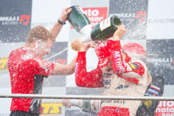 Dijon - Prenois, France. Sunday 11th October. Jules Bianchi (ART Grand Prix Dallara F308 / Mercedes) celebrates winning the 2009 Formula 3 Euro Series on the podium.World Copyright: Alastair Staley/LAT Photographic.Ref: _O9T9782 jpg