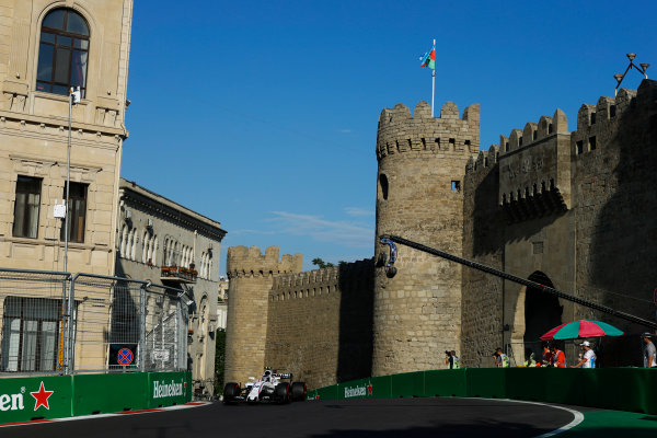 Baku City Circuit, Baku, Azerbaijan. Friday 23 June 2017. Lance Stroll, Williams FW40 Mercedes. World Copyright: Steven Tee/LAT Images ref: Digital Image _R3I2458