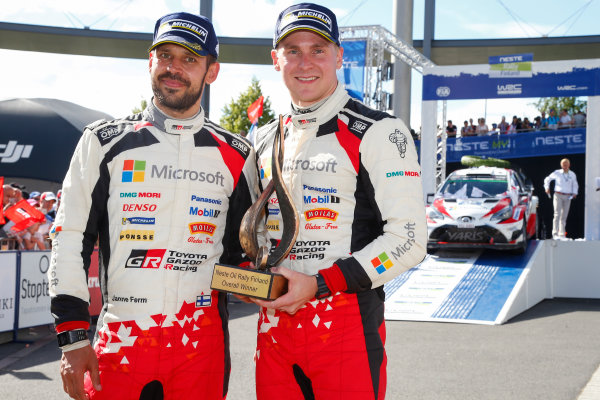 2017 FIA World Rally Championship, Round 09, Rally Finland / July 27 - 30, 2017, Esapekka Lappi, Janne Ferm, Toyota WRC, Podium  Worldwide Copyright: McKlein/LAT