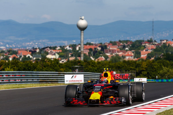 Hungaroring, Budapest, Hungary.  Friday 28 July 2017. Max Verstappen, Red Bull Racing RB13 TAG Heuer. World Copyright: Andy Hone/LAT Images  ref: Digital Image _ONY9252