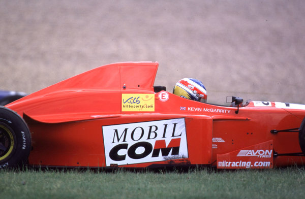 International Formula 3000 Championship Nurburgring, Germany. 19th - 20th May 2000 Kevin McGarrity's race comes to an end at the first corner World - Bellanca/LAT Photographic