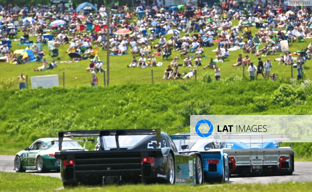 30 May, 2011, Lakeville, Connecticut USA Cars race past the hillside crowd. ©2011, R.D. Ethan LAT Photo USA