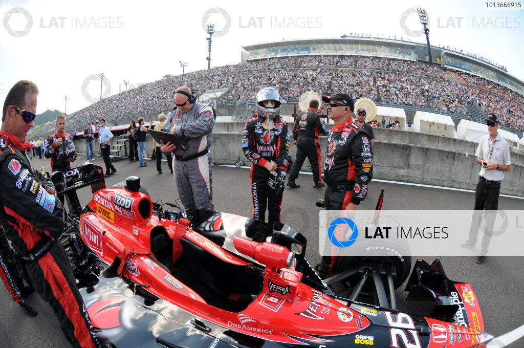 15-18 September, 2011, Twin Ring Motegi JapanMarco Andretti on the grid.(c)2011, Paul WebbLAT Photo USA