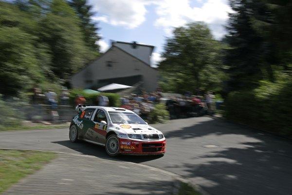FIA World Rally Championship 2007Round 10Rally Deutschland, Germany.Trier, Germany.16th - 19th August 2007Jan Kopecky, Skoda, action.Worldwide copyright: McKlein/LAT