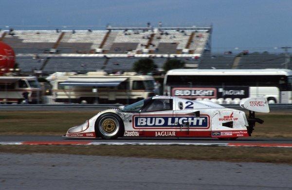 Scott Goodyear (CDN) TWR Jaguar XJR-12D, 2nd place. IMSA GTP Championship, Rd1, Daytona 24 Hours, Daytona Beach, Florida, USA. 2 January 1992. BEST IMAGE