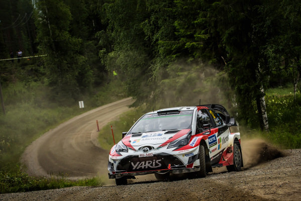 Esapekka Lappi (FIN) / Janne Ferm (FIN), Toyota Gazoo Racing WRT Toyota Yaris WRC at World Rally Championship, Rd9, Rally Finland, Day Two, Jyvaskyla, Finland, 29 July 2017.