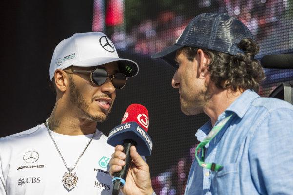 Lewis Hamilton (GBR) Mercedes AMG F1 at Formula One World Championship, Rd9, Austrian Grand Prix, Qualifying, Spielberg, Austria, Saturday 8 July 2017.