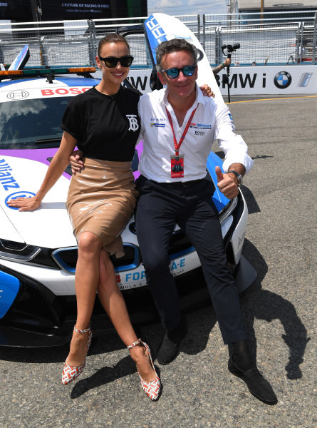 Model Irina Shayk with Alejandro Agag, CEO, Formula E