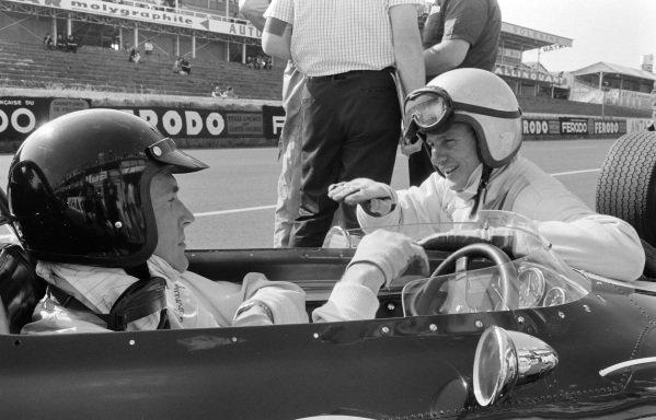 Dan Gurney with Bruce McLaren.