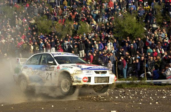 2001 World Rally Championship. ArgentinaMay 3rd-6th, 2001Gabriel Pozzo on stage 9.Photo: Ralph Hardwick/LAT