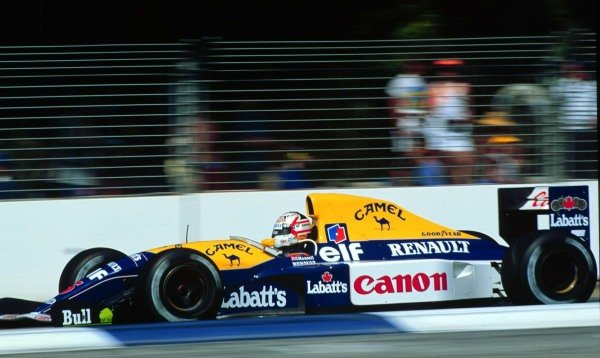 1991 Australian Grand Prix.Adelaide, Australia.3 November 1991.Nigel Mansell (Williams FW14 Renault) 2nd position.World Copyright - LAT Photographic