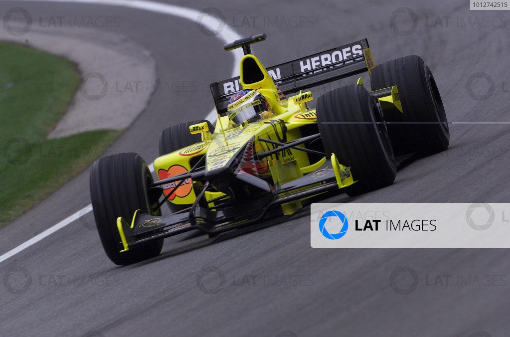 2001 American Grand Prix - QualifyingIndianapolis, United States. 29th September 2001.Jean Alesi, Jordan Honda EJ11, action.World Copyright: Steve Etherington/LAT Photographicref: 18mb Digital Image