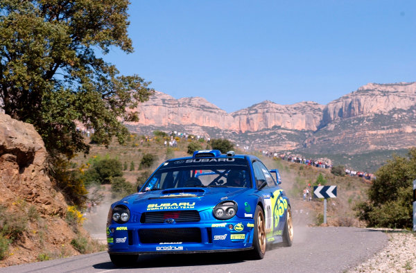 2002 World Rally ChampionshipRally Catalunya, 21st-24th March 2002.Tommi Makinen on Stage 3.Photo: Ralph Hardwick/LAT