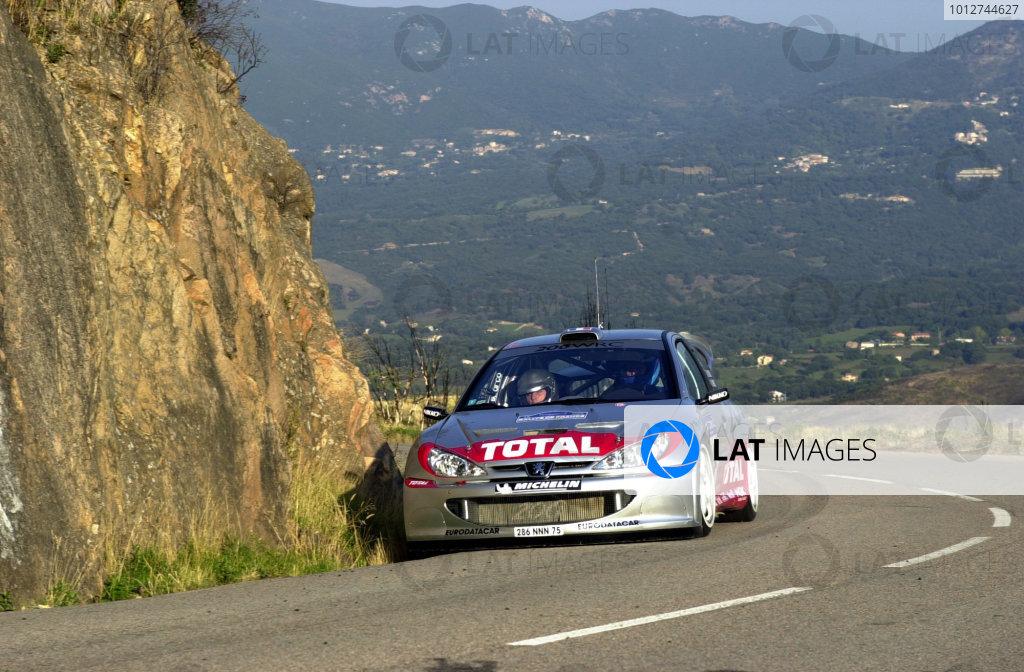2001 World Rally Championship.Rallye de France, Ajaccio, Corsica, October 19-21.Gilles Panizzi on stage 1.Photo: Ralph Hardwick/LAT