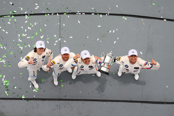 GTLM Race Winners, #25 BMW Team RLL BMW M8 GTE, GTLM: Augusto Farfus, Connor De Phillippi, Philipp Eng, Colton Herta