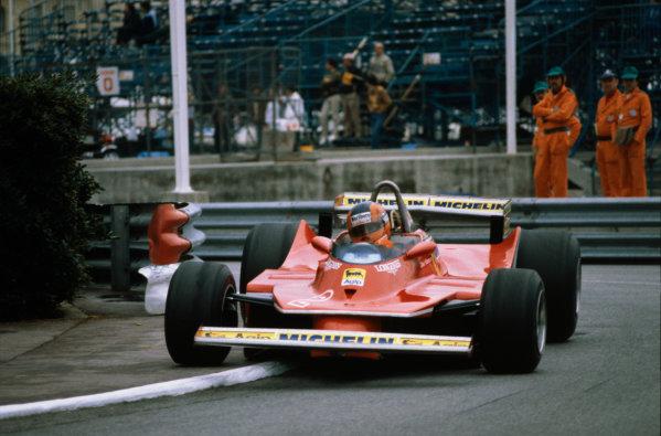 Monte Carlo, Monaco. 15-18 May 1980.Gilles Villeneuve (Ferrari 312T5), 5th position.World Copyright: LAT PhotographicRef: 35mm transparency