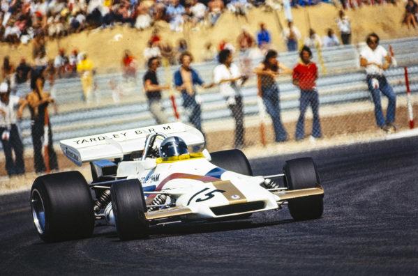 Pedro Rodriguez drifts his BRM P160.