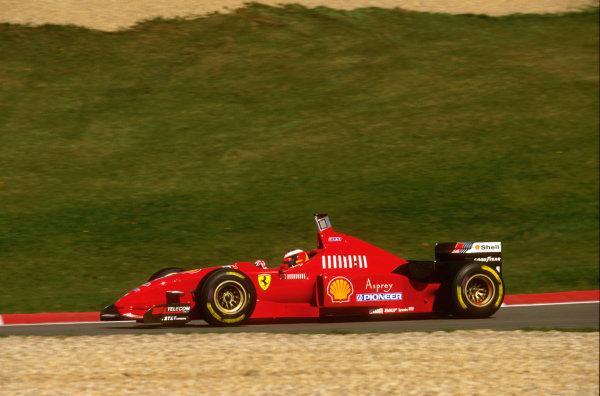 Nurburgring, Germany.26-28 April 1996.Michael Schumacher (Ferrari F310) 2nd position.Ref-96 EUR 01.World Copyright - LAT Photographic