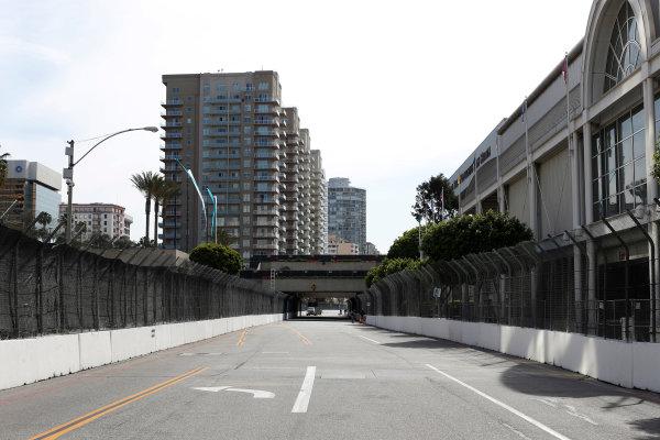 2014/2015 FIA Formula E Championship. Long Beach ePrix, Long Beach, California, United States of America. Friday 3 April 2015 View of the track. Photo: Zak Mauger/LAT/Formula E ref: Digital Image _L0U5919