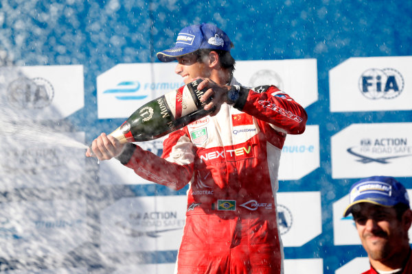 2014/2015 FIA Formula E Championship. Nelson Piquet Jr (BRA)/China Racing - Spark-Renault SRT_01E  Long Beach ePrix, Long Beach, California, United States of America. Sunday 5 April 2015  Photo: Al Staley/LAT/Formula E ref: Digital Image _R6T8721