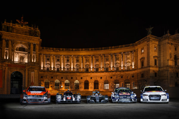 2016 FIA Prize Giving Vienna, Austria Friday 2nd December 2016 Citroen, Audi, Mercedes and Volkswagen cars outside the venue. Photo: Copyright Free FOR EDITORIAL USE ONLY. Mandatory Credit: FIA ref: 30549540064_73d413c464_o