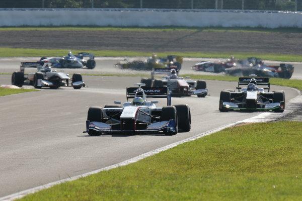 2016 Japanese Super Formula. Sugo, Japan. 24th - 25th September 2016. Rd 6. Start of the race action World Copyright : Yasushi Ishihara/LAT Photographic Ref : 2016SF_Rd6_SUGO_002