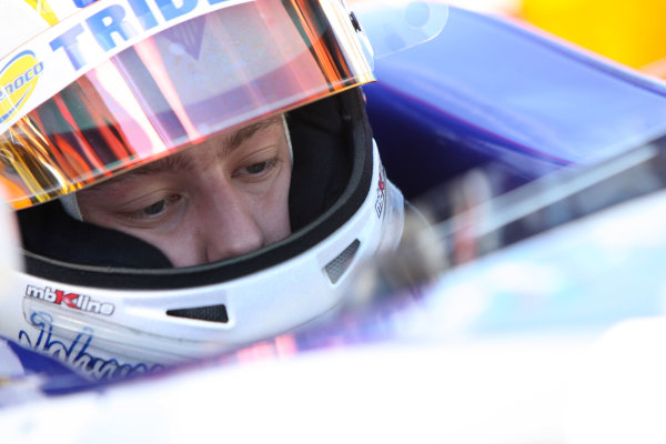 Silverstone, England. 9th July.Friday Practice.Johnny Cecotto (VEN, Trident Racing). Photo: Jakob Ebrey/GP2 Media Service.Ref: _JE__1730 jpg