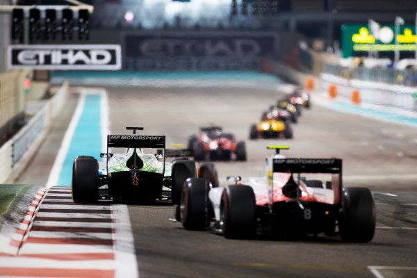 2017 FIA Formula 2 Round 11. Yas Marina Circuit, Abu Dhabi, United Arab Emirates. Saturday 25 November 2017. Sergio Sette Camara (BRA, MP Motorsport).  Photo: Sam Bloxham/FIA Formula 2. ref: Digital Image _W6I3369