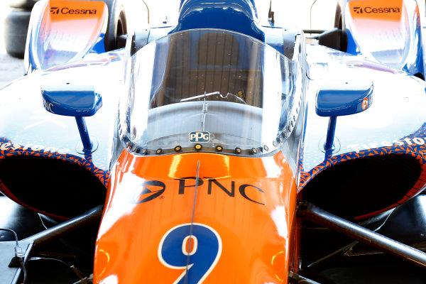 2018 Verizon IndyCar Series Phoenix testing Phoenix Raceway, Avondale, Arizona, USA Thursday 8 February 2018 Scott Dixon's car is outfitted with the new IndyCar windscreen World Copyright: Phillip Abbott/LAT Images  ref: Digital Image abbott_phxTest2018_0478